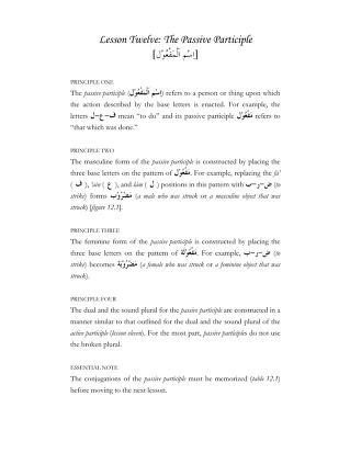 Download 12 the passive participle pdf pdf book