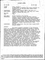ERIC - ERIC ED115705: An Experiment in Educating High School Dropouts: An Evaluation of the New York Urban League Street Academy Program.