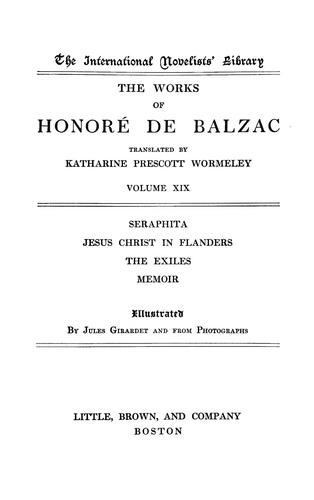 The works of Honoré de Balzac