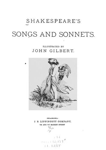 Download Shakespeare's songs and sonnets