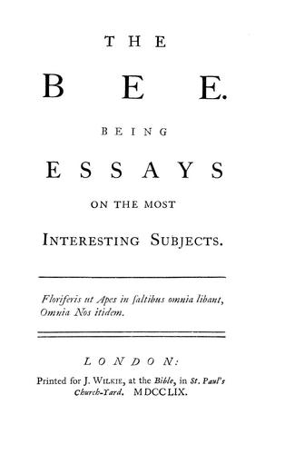 The bee and other essays