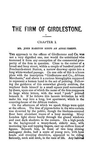 The firm of Girdlestone.