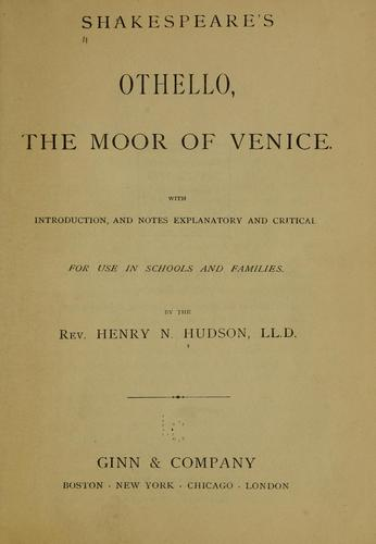 Shakespeare's Othello, the Moor of Venice.