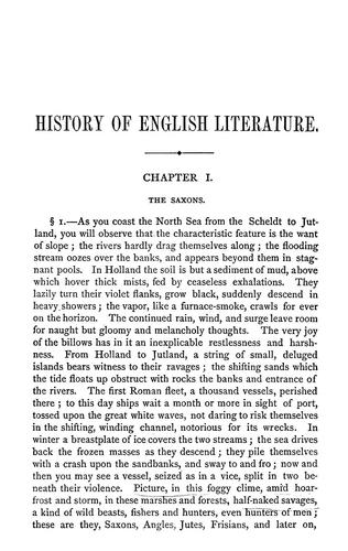Download History of English literature
