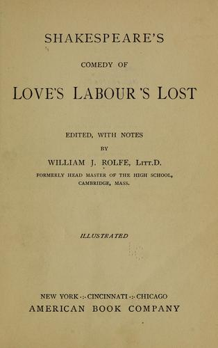 Download Shakespeare's comedy of Love's labour's lost