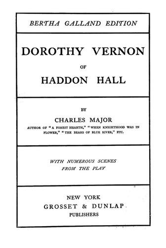 Dorothy Vernon of Haddon Hall