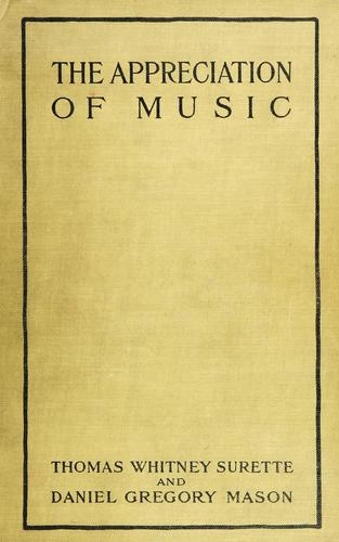 Download The appreciation of music