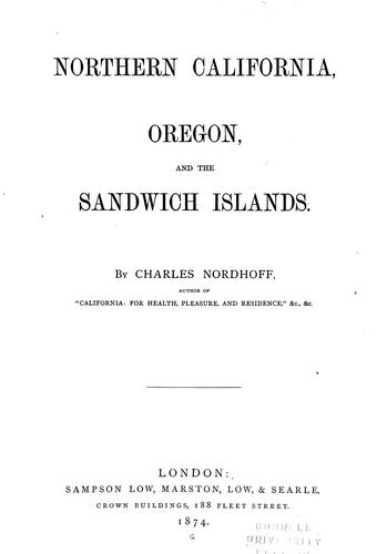 Northern California, Oregon, and the Sandwich islands