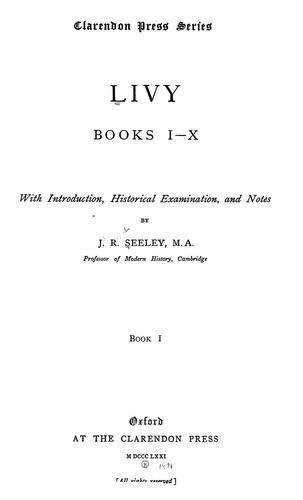 Livy, books I-X