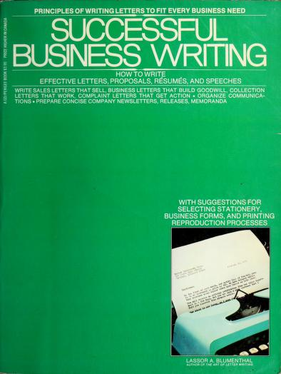 Successful business writing by Lassor A. Blumenthal