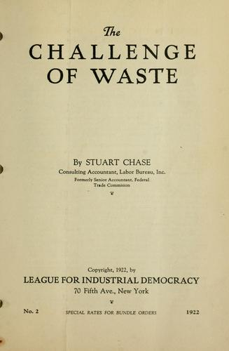 The challenge of waste