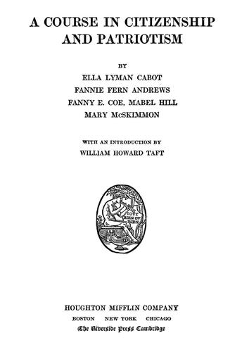 A course in citizenship by Cabot, Ella Lyman.