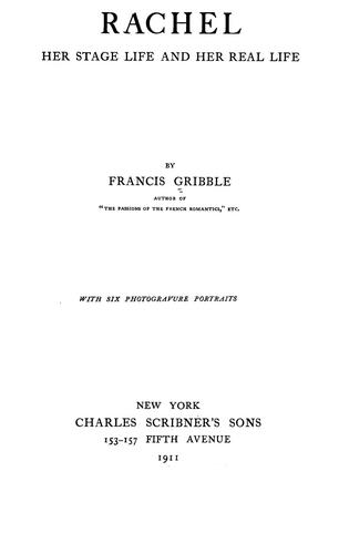 Rachel by Francis Henry Gribble