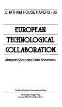 European technological collaboration by Sharp, Margaret