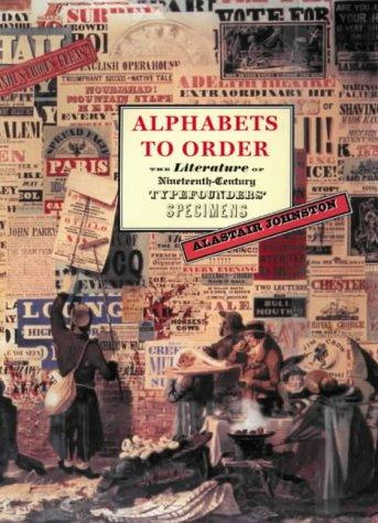 Alphabets to order by Alastair Johnston